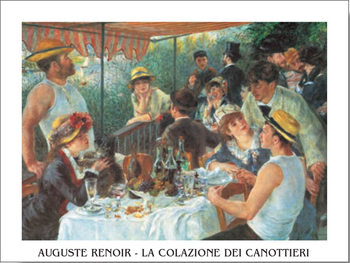 Reprodução do quadro  Luncheon of the Boating Party, 1880-81