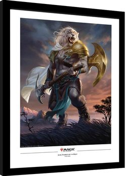 Magic The Gathering - Ajani Strength of the Pride Poster Emoldurado