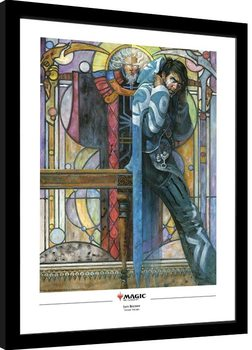Magic The Gathering - Jace, The Cunning Castaway Poster Emoldurado