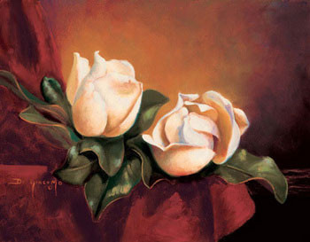 Reprodução do quadro Magnolia Vignette ll