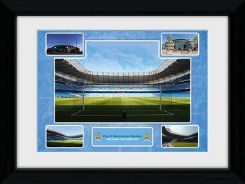 Manchester City - Stadium Poster Emoldurado