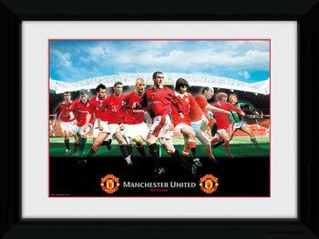 Manchester United - Legends Poster Emoldurado