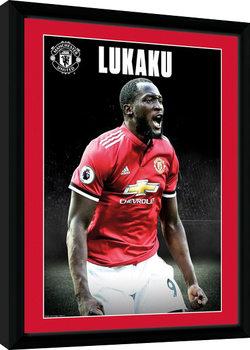 Manchester United - Lukaku Stand 17/18 Poster Emoldurado