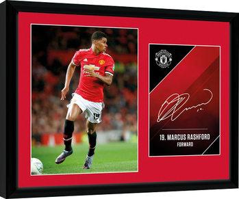 Manchester United - Rashford 17/18 Poster Emoldurado