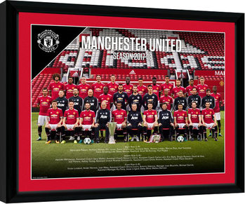 Manchester United - Team Photo 17/18 Poster Emoldurado