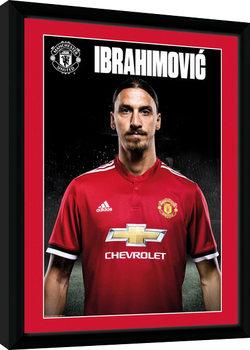 Manchester United - Zlatan Stand 17/18 Poster Emoldurado