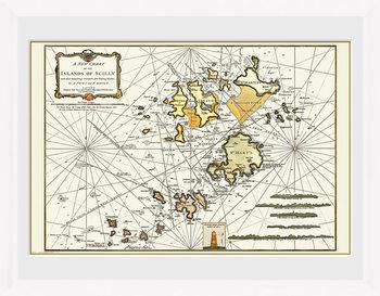 Maps - Isle Of Scilly Poster Emoldurado