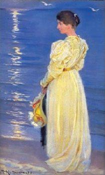 Reprodução do quadro Marie, the wife of the artist