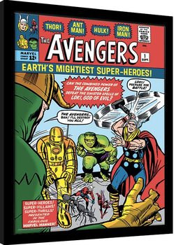 Marvel Comics - Avengers vs Loki Poster Emoldurado