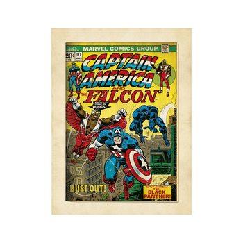 Reprodução do quadro  Marvel Comics - Captain America