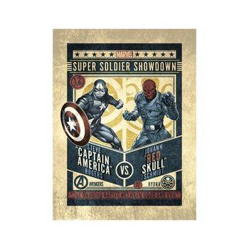 Reprodução do quadro  Marvel Comics - Captain America vs Red Skull