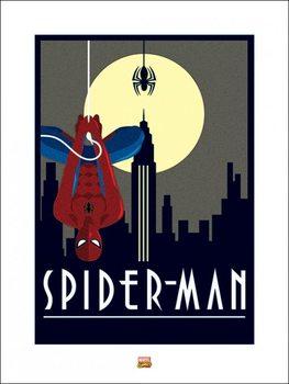 Reprodução do quadro  Marvel Deco - Spider-Man Hanging