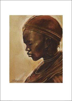 Reprodução do quadro Masai woman II.