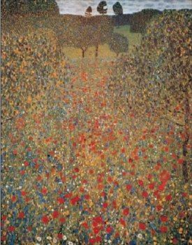 Reprodução do quadro Meadow With Poppies