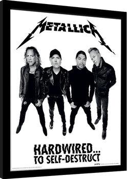 Metallica - Hardwired Band Poster Emoldurado