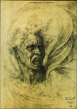 Reprodução do quadro  Michelangelo - La Furia