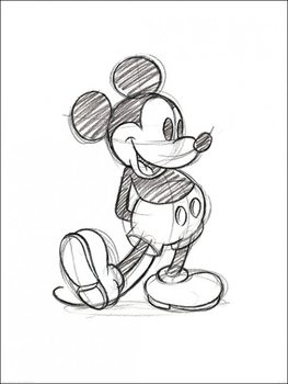 Reprodução do quadro  Mickey Mouse - Sketched Single