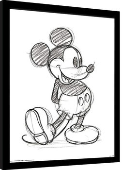 Mickey Mouse - Sketched Single Poster Emoldurado
