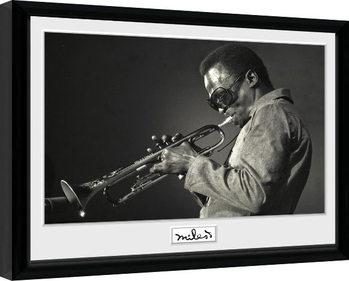 Miles Davis - Portrait Poster Emoldurado