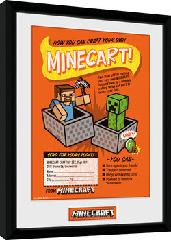 Minecraft - Craft Your Own Minecraft Poster Emoldurado