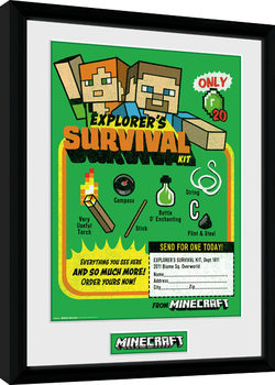 Minecraft - Survival Kit Poster Emoldurado