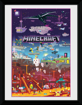 Minecraft - World Beyond Poster Emoldurado