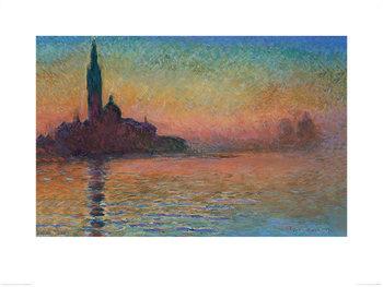 Reprodução do quadro  Monet - Sunset in Venice