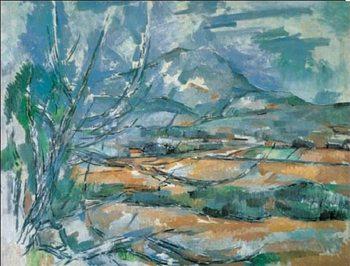 Reprodução do quadro Mont Sainte-Victoire