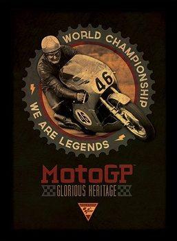 MOTO GP - legends Poster Emoldurado