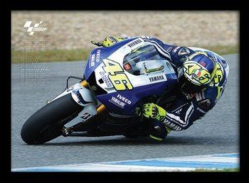 MOTO GP - Rossi Poster Emoldurado