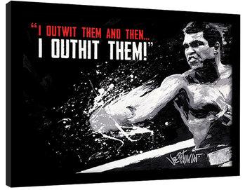 Muhammad Ali - outwit outhit Poster Emoldurado