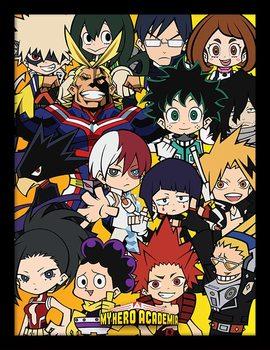 My Hero Academia - Chibi Characters Poster Emoldurado