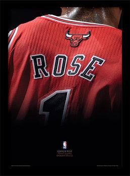 NBA - Derrick Rose Poster Emoldurado