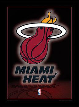 NBA - Miami Heat Logo Poster Emoldurado