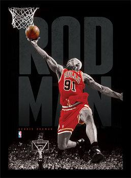 NBA - Rodman Poster Emoldurado