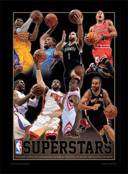 NBA - Superstars Poster Emoldurado