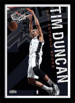 NBA - Tim Duncan Poster Emoldurado