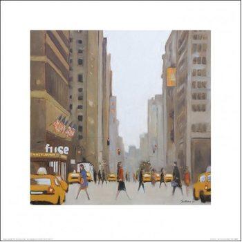 Reprodução do quadro New York - 7th Avenue