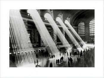 Reprodução do quadro New York - Grand central terminal