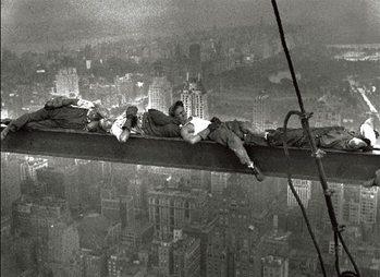 Reprodução do quadro New York - Radio city workers