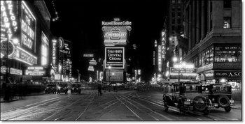 Reprodução do quadro  New York – Times Square at night-1910