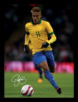 Neymar - Autograph Poster Emoldurado