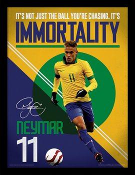 Neymar - Immortality Poster Emoldurado