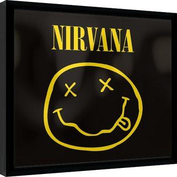 Nirvana - Smiley Poster Emoldurado