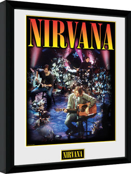 Nirvana - Unplugged Poster Emoldurado