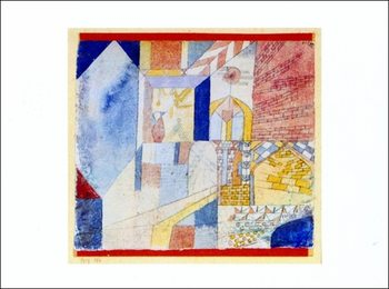 Reprodução do quadro  P.Klee - Abstraction Mit Dem Krug
