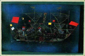Reprodução do quadro  P.Klee - Das Abenteurershiff