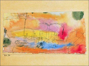Reprodução do quadro  P.Klee - Der Fish Im Ahfen