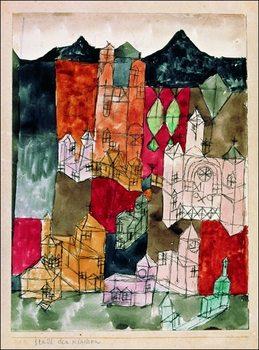 Reprodução do quadro  P.Klee - Stadt Der Kirken