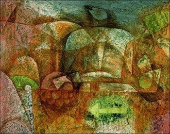 Reprodução do quadro  P.Klee - Stillben Mit Der Taube